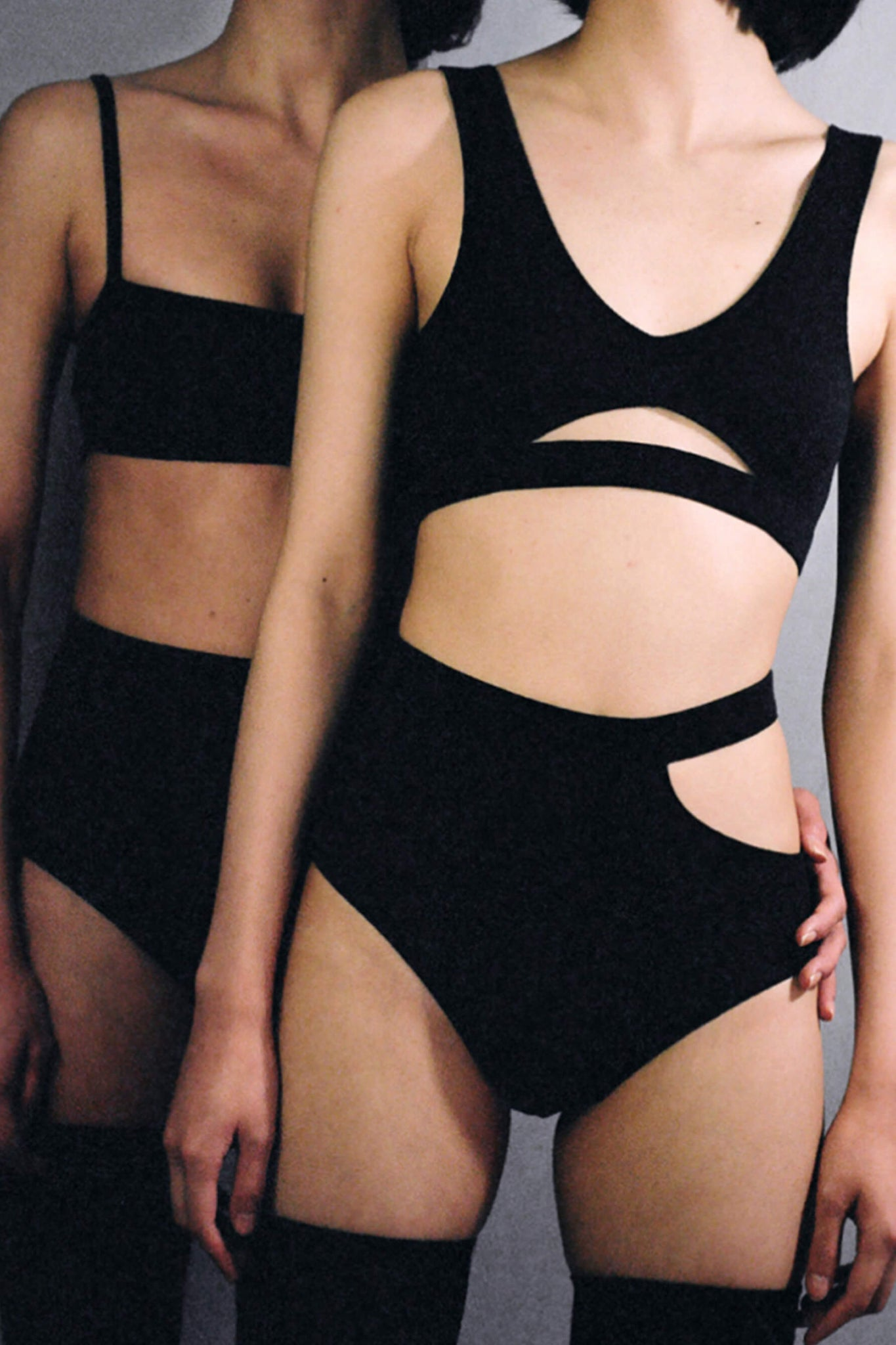 Black Sade Briefs in ribbed cotton from Marieyat