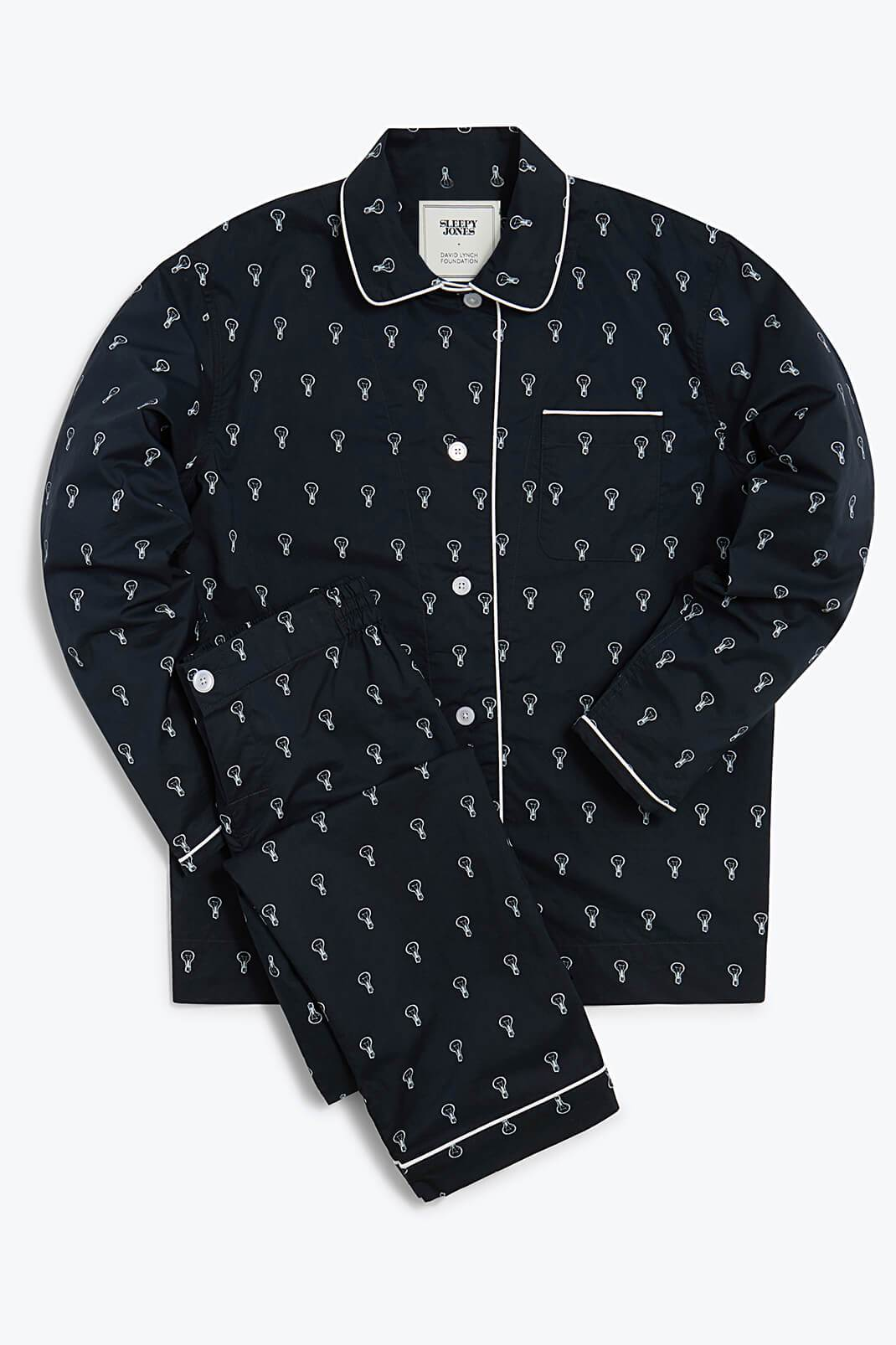 Sleepy Jones x The David Lynch Foundation Bishop Pajama Set