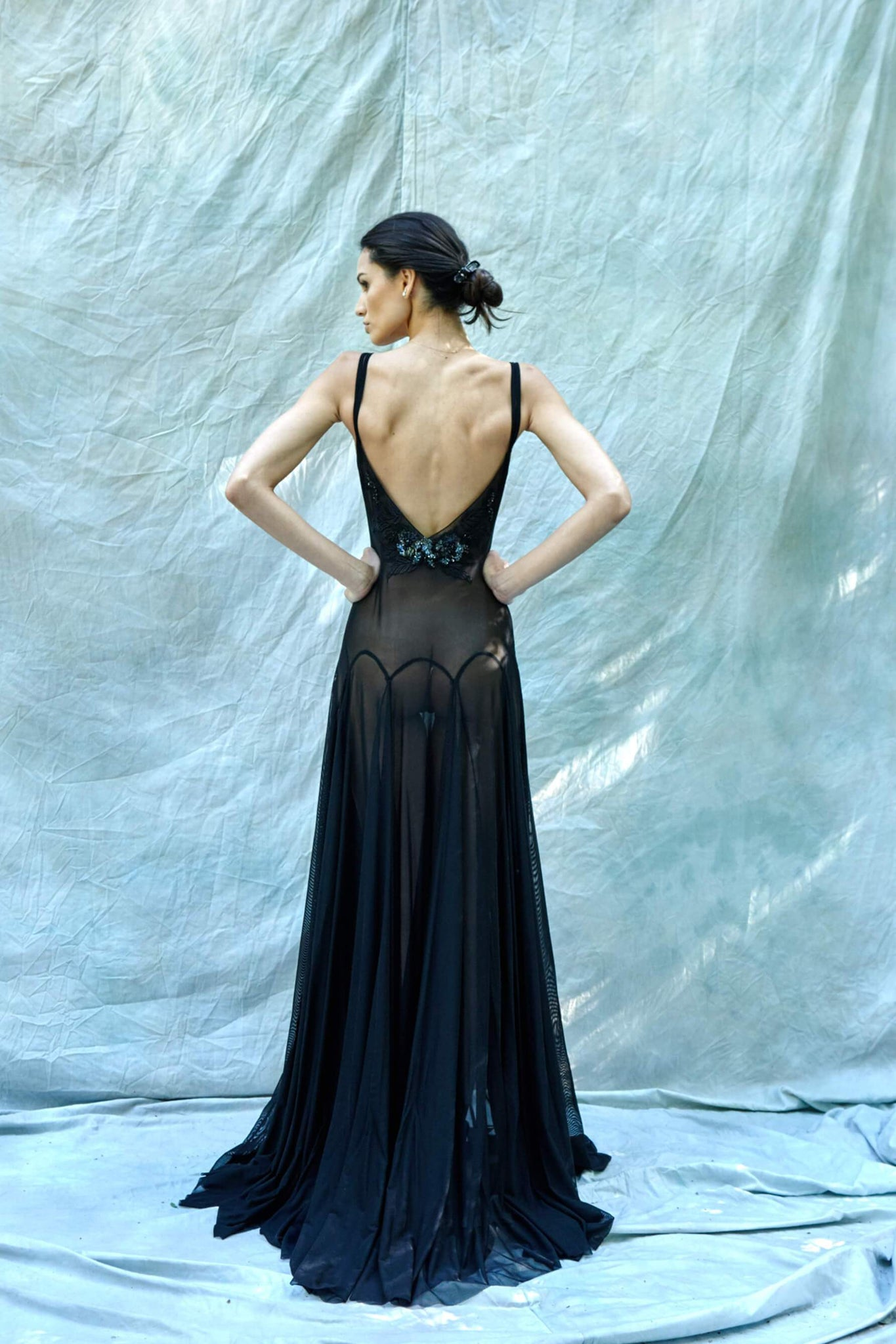 Flavia beaded tulle gown from Taryn Winters