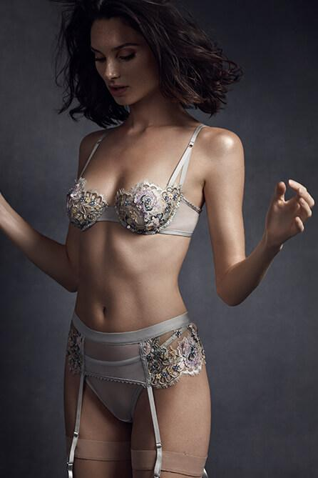 Taryn Winters Pilar Beaded and Embroidered Garter Belt