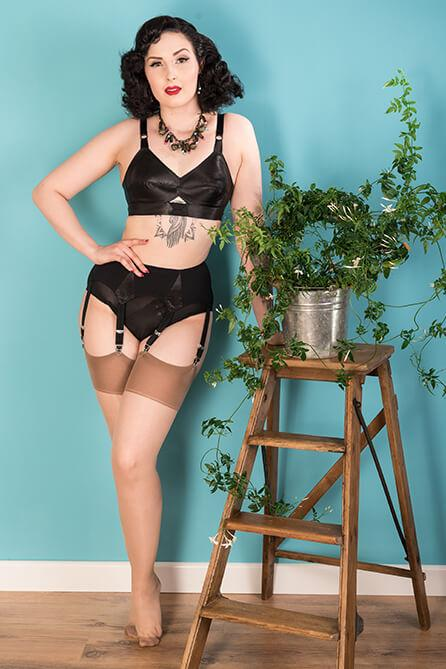 Latte Glamour Seamed Stockings