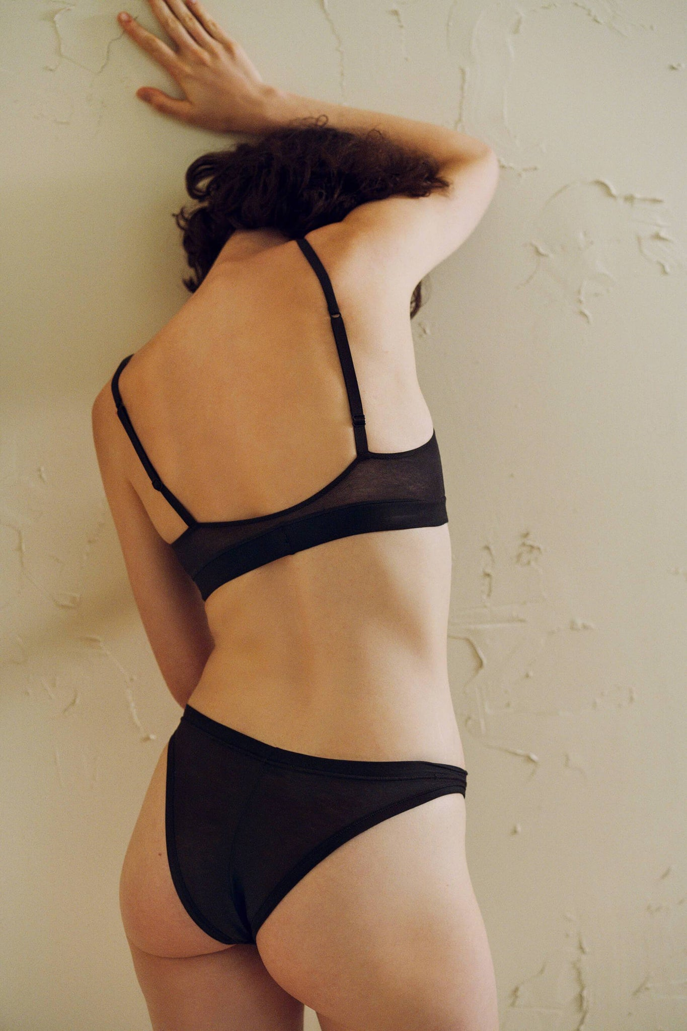 Black Fresco Cotton Bikini Brief from Ethical Lingerie Designer The Great Eros
