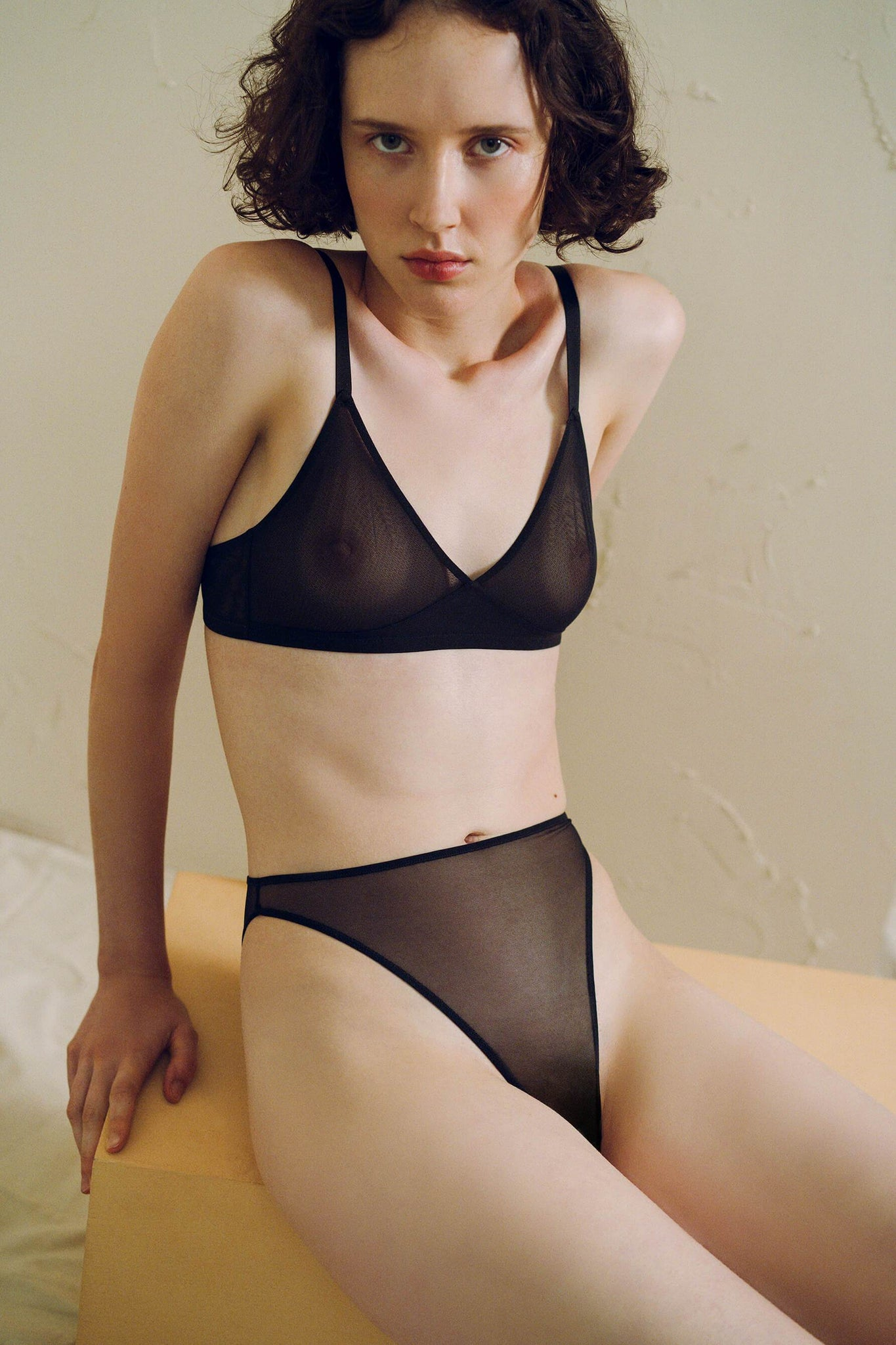 Black Canova 90s High Waist Ouvert Brief from Ethical Lingerie Designer The Great Eros