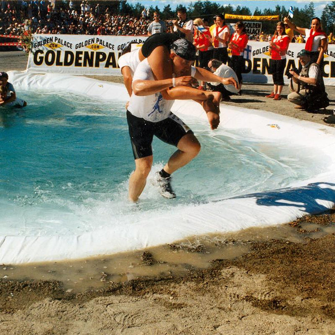 Wife-carrying and mobile-throwing
