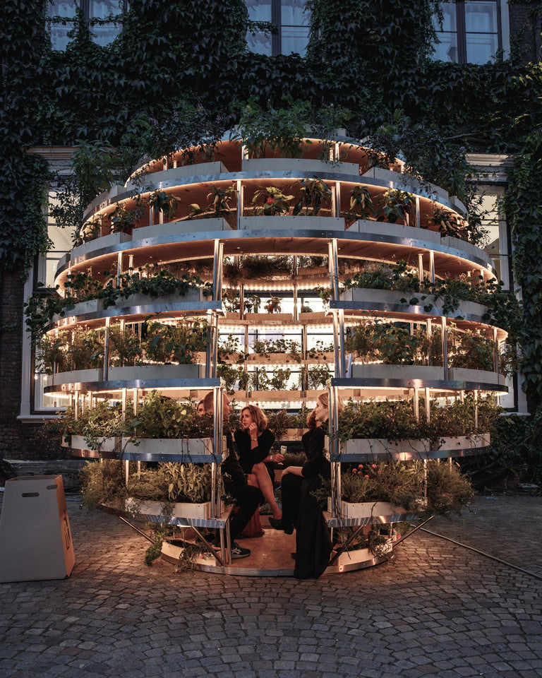The Growroom demonstrates the future possibilities of city farming and will be seen at Helsinki Design Week 2017. © RASMUS HJORTSHOJ
