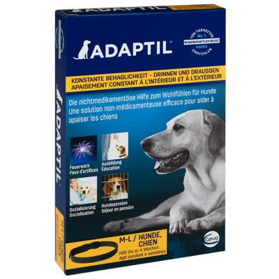 ADAPTIL Collar - calm your Medium to large dog indoors and outdoors, in situations like loud noises, staying alone, boarding and other fearful situations
