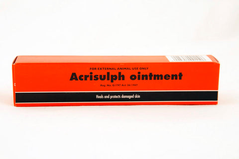 Acrisulph- antiseptic and healing ointment that heals and protects damaged skin.