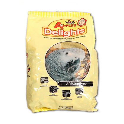 Avi-PLus African Grey Delight has been formulated to supply all the necessary vitamins, minerals and nutrients needed for everyday well being and long term health of your bird