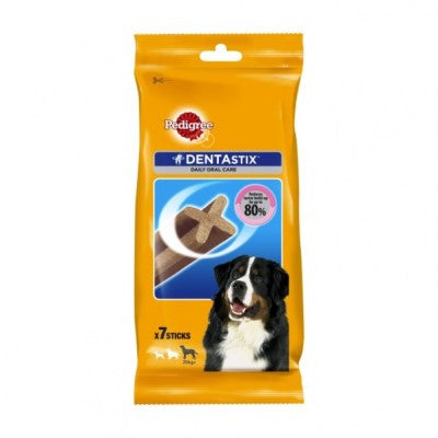 Pedigree Dentastix Large- Aids in  the prevention of plaque build up on your dogs teeth.