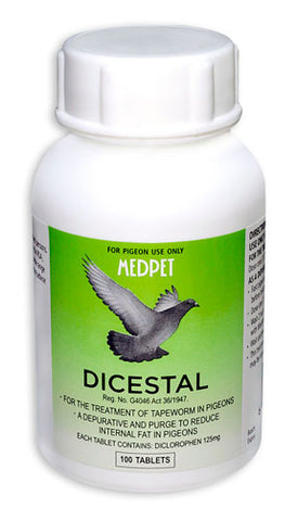 Dicestal-For the Treatment of tapeworms in pigeons