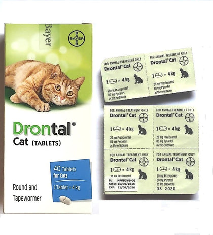 Drontal is a worm remedy against ascarids, hookworms and tapeworms in cats