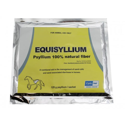 Equisyllium Fibre - Gastrointestinal Care  A nutritional aid in the management of sand colic and sand associated diarrhea in horses.