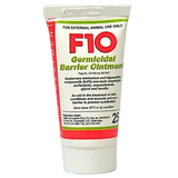 F10 Germicidal Barrier Ointment- An ointment effective against bacteria, fungi and viruses to treat open and contaminated wounds and prevent re-infection, small tube