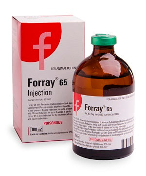 Forray 65 kills Redwater (Babesiosis) and tick-borne Gallsickness (Anaplasmosis) organisms in cattle