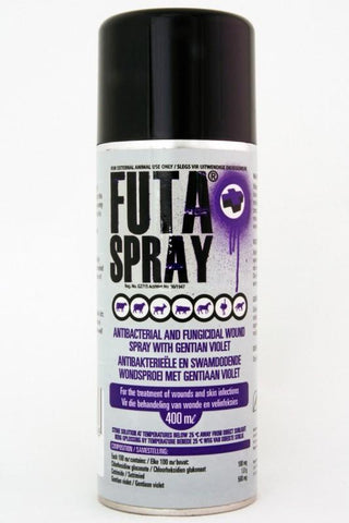 Futa Spray- Antibacterial and fungicidal wound spray with gentian violet.For the treatment of wounds and skin infections.