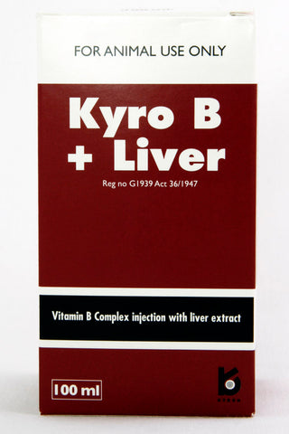 Kyro B + Liver-Vitamin B Complex injection with liver extract.