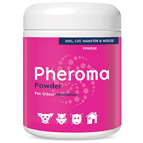 Pleasant-smelling Pheroma Powder is a scientifically-formulated, patented odour neutralizer developed especially for deodorizing