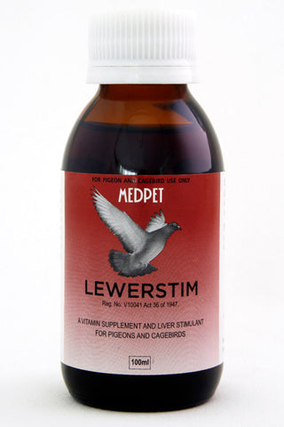 Lewerstim- A vitamin supplement and liver stimulant for pigeons and cage birds