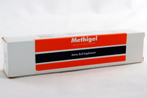 Methigel is a malt-flavoured oral gel containing methionine, for use as a urinary acidifier in cats and dogs