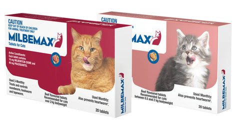 Milbemax is used for the treatment of mixed infections of immature and adult cestodes and nematodes in kittens and cats.