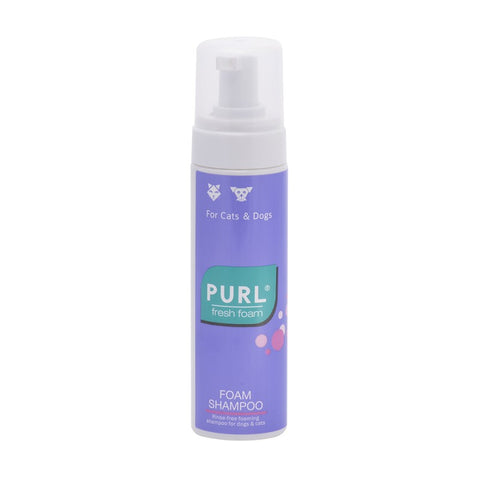 Purl Fresh Foam shampoo is a convenient and stress-free way to clean and freshen your pet. No water is required