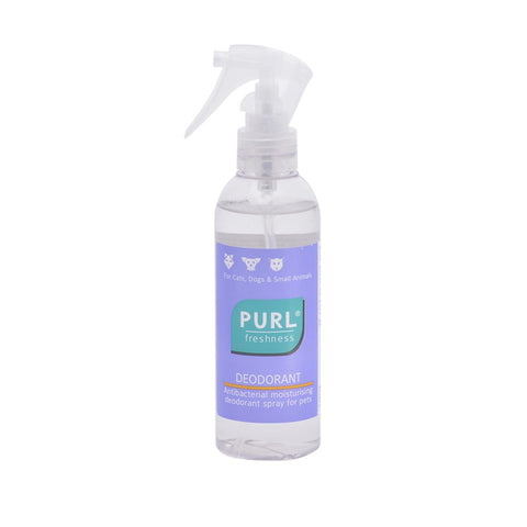 Purl Freshness Deodorant spray is an antibacterial, moisturising deodorant spray that can be used on dogs, cats and small animals