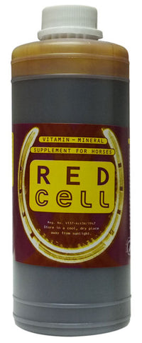 Red Cell contains ingredients which build up the blood in Horses
