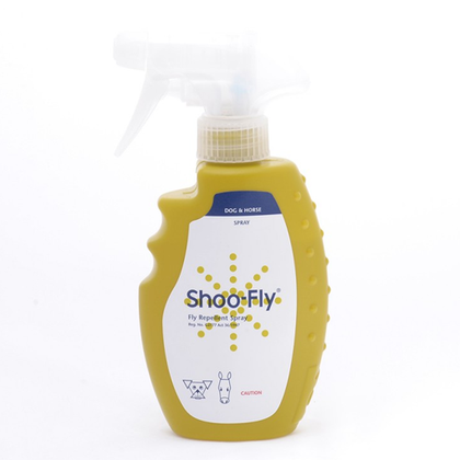 Shoo-Fly Spray repels midges, biting flies and other nuisance flies which may be a source of irritation for dogs or horses