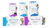 Triworm-D is a worm remedy against ascarids, hookworms, whipworms and tapeworms in dogs