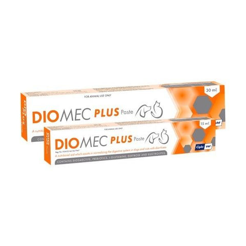 Diomec Plus-A nutritional aid which assists in normalizing the digestive system in dogs and cats with diarrhoea