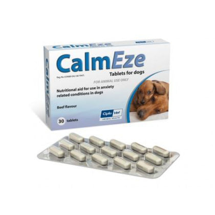CalmEze Tablets are intended for use in highly strung or anxious dogs