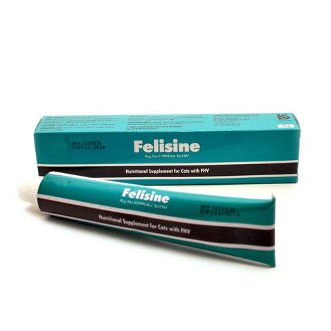 Felisine is a palatable gel for cats-managing complications caused by Feline Herpesvirus (FHV-1)