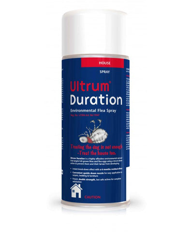Ultrum Duration is an aerosol spray for flea control in the house, giving instant knock-down of adult fleas
