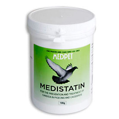 Medistatin- For the prevention and treatment of candida in pigeons and cage birds