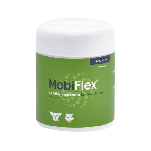 Mobiflex powder- A nutritional aid for pets that can be used to assist with the treatment of a variety of joint conditions