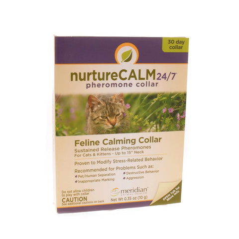 NurtureCalm feline calming collar  Sustained release maternal pheromones for cats and kittens