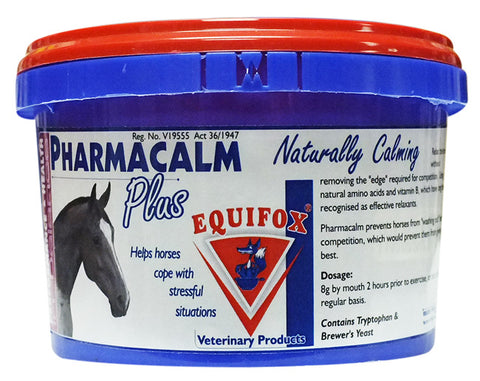 "Equifox Pharmacalm Plus - Relax the horse without removing the ""edge"" required for competition"