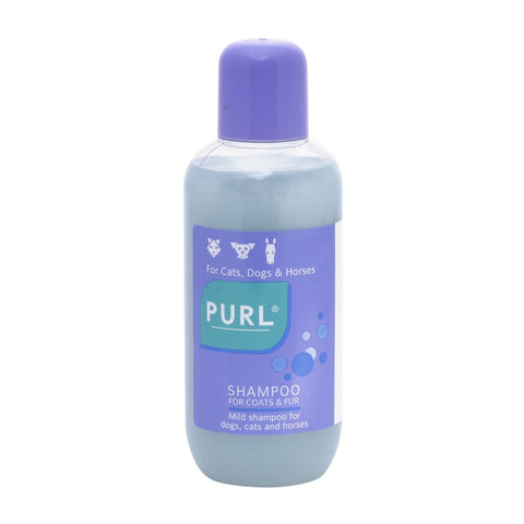 Purl shampoo is a luxury pearly shampoo with lanolin that is mild enough for regular use in dogs, cats and horses