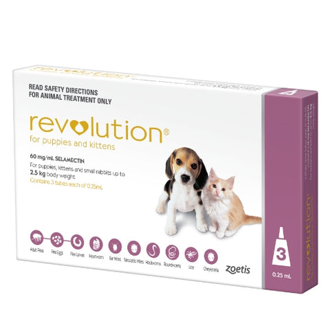 Revolution is indicated for the treatment, control and prevention of flea infestations, control flea allergy dermatitis, treatment and control of ear mites and for the treatment and control of sarcoptic mange in dogs