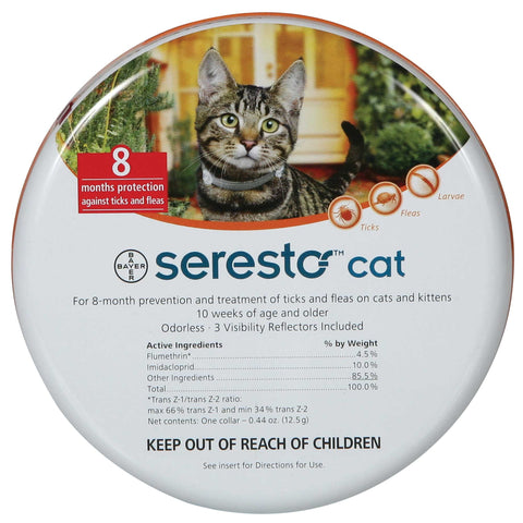Seresto -giving your cat up to 8 months of protection against fleas and ticks