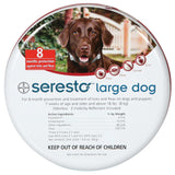Seresto  giving your dog >8Kg up to 8 months of protection against fleas and ticks.