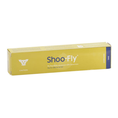 Shoo-Fly Ointment repels biting flies on dogs