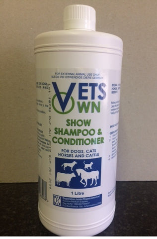 Vets Own show Shampoo and Conditioner-Ideal for use on dogs, cats, horses and cattle