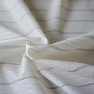 Cream Stripe Cotton Shirting