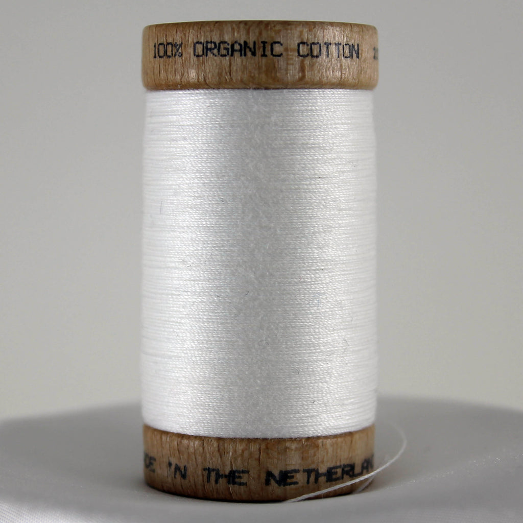 Organic Cotton Thread - White 275m