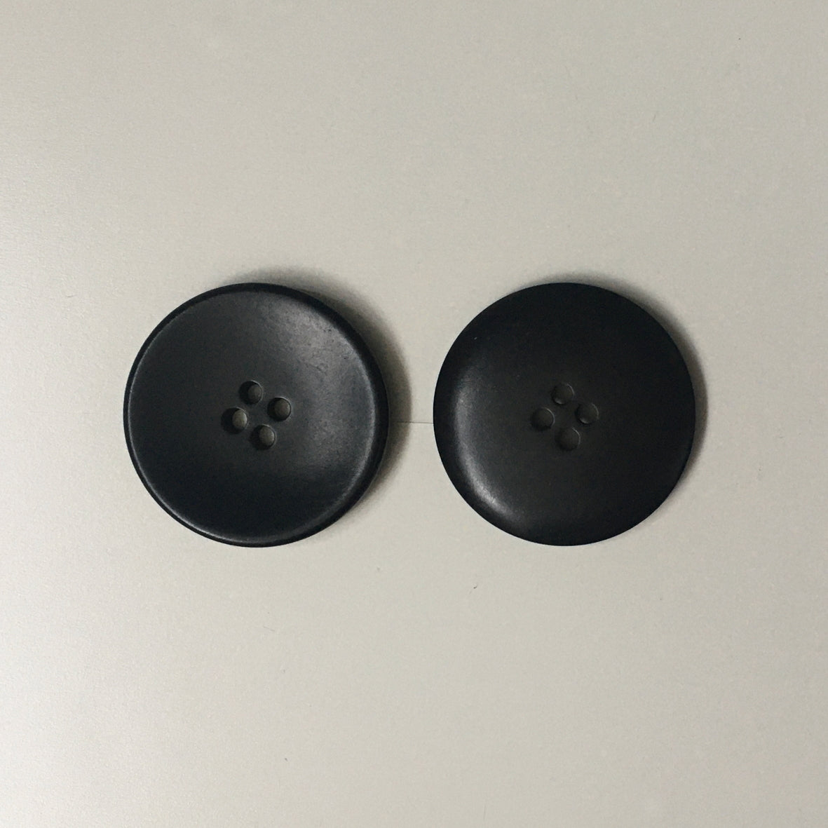 Black Corozo Buttons 28mm - Pack Of 5