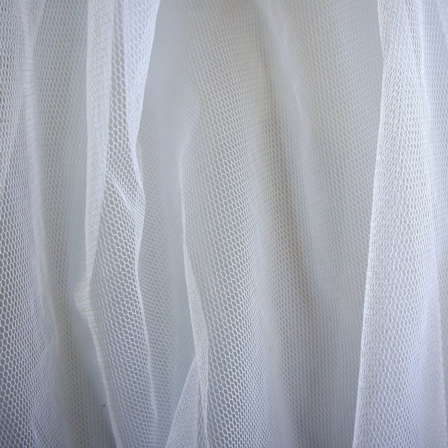 White Tulle With Lilac Hint