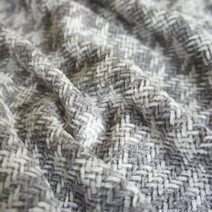White and Grey Dogtooth Weave