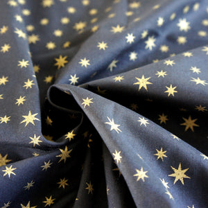 Black with Gold Star Print