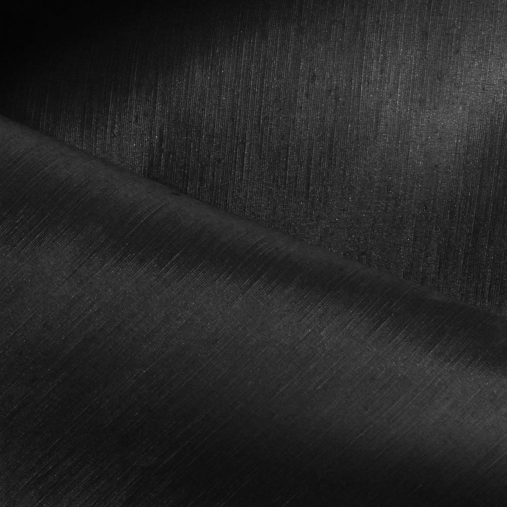 Black Hemp Silk Charmeuse